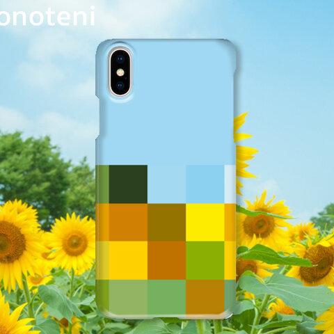 スマホケース 表側面印刷 色彩採集 ヒマワリ (iPhone・Android対応)【受注生産】#005-hcs