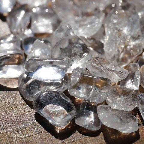天然石 水晶(ブラジル産)約60g分約6~15mm大きめさざれ石詰合せ穴なし クォーツクリスタル鉱石アクセサリー鉱物テラリウム素材[sa-211023-03]