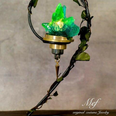鉱石風ランタン(緑)