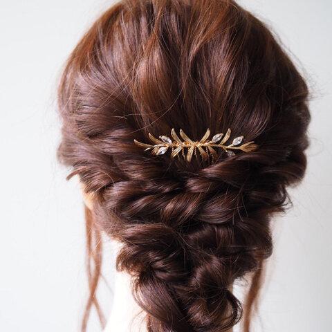 -枝葉の髪飾り(A)-