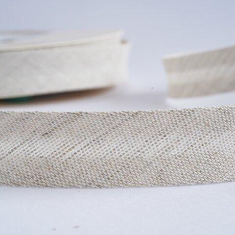 リネンの両折バイアステープ ナチュラル【1.5m】