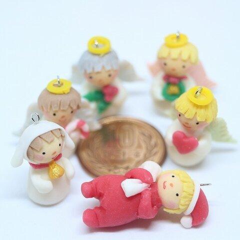 クリスマスオーナメント 天使とサンタと子羊さん