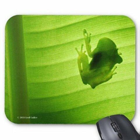 カエルのシルエットのマウスパッド:フォトパッド(世界のカエルシリーズ)