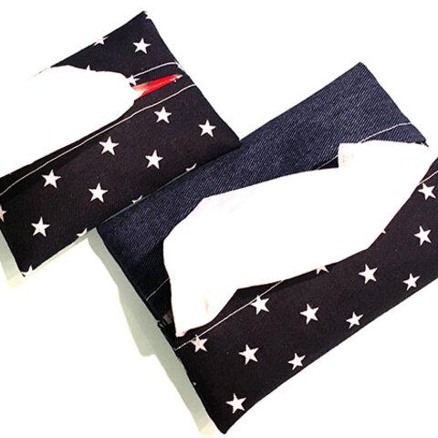 新作♥星柄デニム♥。・゚ミニポケットティッシュケース♥。・゚再!!再販売
