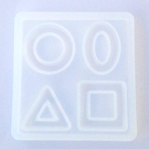 シリコンモールド  (フープ型 Y-01) オーバル 丸 三角 四角 がつくれるレジンモールド シリコン モールド 型 レジン