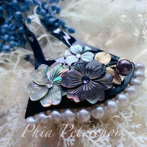 和 和飾り 簪 蝶貝 かんざし バチ型  パール 簪 髪飾り 留袖 着物 成人式 結婚式  ヘアピン ヘアアクセサリー 卒業式 真珠 七五三 お正月