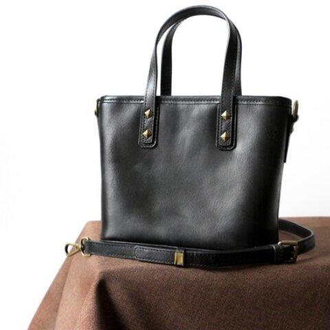 シンプルな高級牛革ショルダーバッグ斜め掛け2wayバッグ