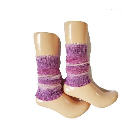 「Grape Mix」さっと履けて便利な、手編みのレッグウォーマー