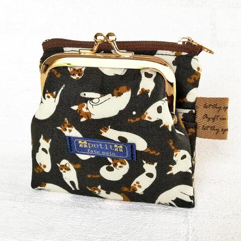 miniwallet 二つ折りミニ財布 ポーチ カードケース 三毛猫