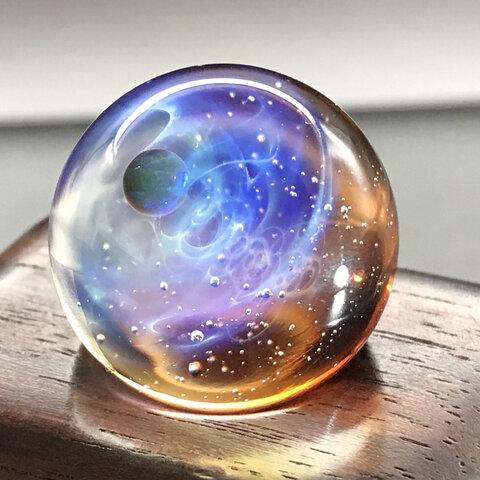 宇宙モチーフガラス   小瑠璃-003