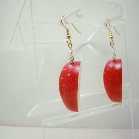 りんご(立体模型)☆リアルな食品サンプルのフルーツピアス