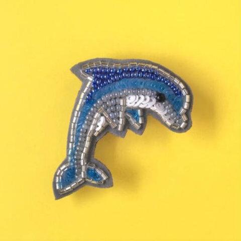 かんたんビーズ刺繍キット イルカのブローチ