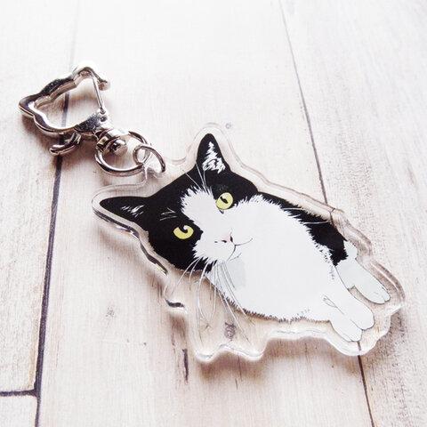 はちわれ猫のアクリルキーホルダー