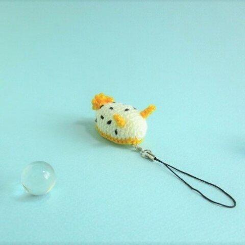 kiitigo*かわいい海のいきもの*1点シロウミウシ*あみぐるみストラップ