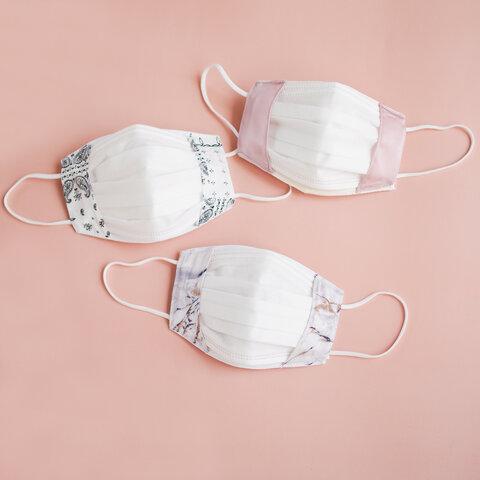 《新サイズ追加・付けないより息しやすい》 シルク マスクカバー 美容 美肌 敏感肌 不織布マスク 二重マスク インナーマスク こども キッズ 日本製