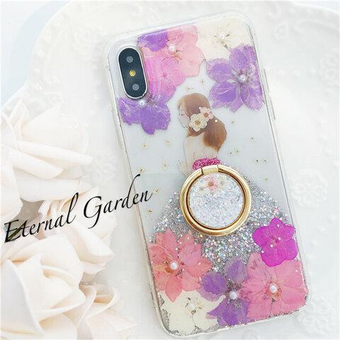 ドレス 押し花スマホケース iPhone13 iPhone13mini iPhone13pro max iPhone12 iPhone12mini iPhone12 google pixel 5a