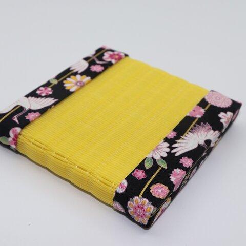 デザイン畳 ミニ畳 ニ等 約10×10cm 和風 インテリア 黄ござ