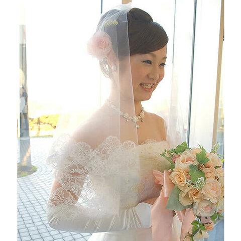 ウェディングベール ショートベール【花の妖精】結婚式