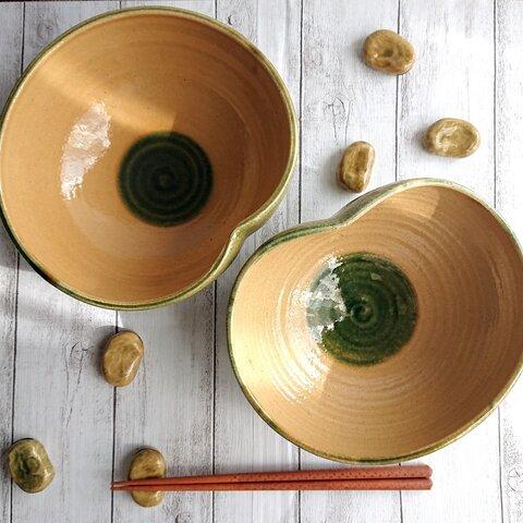 【L丸】そら豆ボウル*カレー皿・サラダボウル