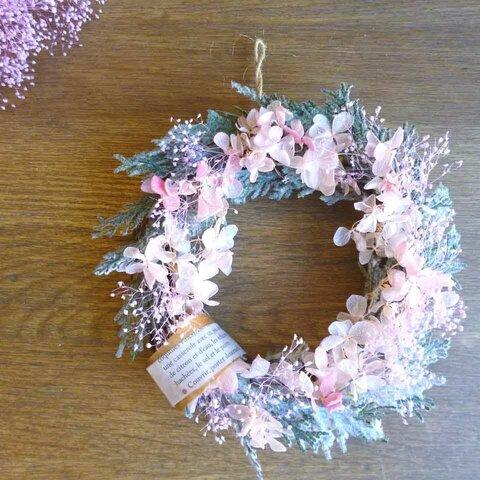 【クリスマス】柔らかピンクのリース