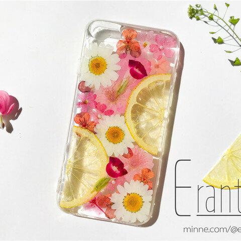 押し花 ドライフラワー フルーツ スマホケース iPhone ケース