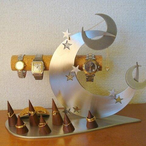クリスマスプレゼントに!リーフトリプルクロス三日月アクセサリー収納スタンド
