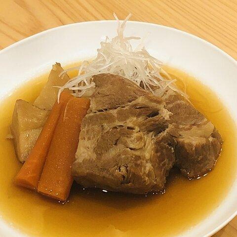 豚の角煮 野菜付き(一人前)