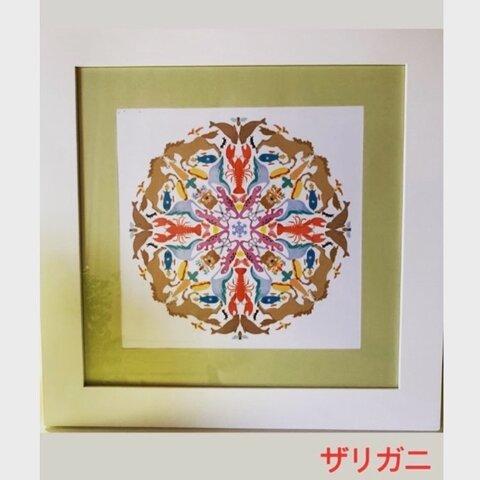 スティッカーマンダラアート/ザリガニ