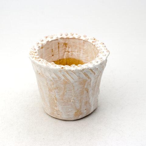 陶器製(2号ポット相当) 多肉植物の欲しがる植木鉢 NSSS-435