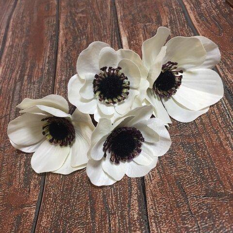 《再販》ドライフラワー ヘッドパーツ 髪飾り ヘアアクセ アネモネ 和装 ブライダル 造花