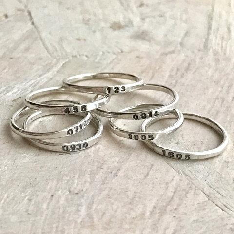 【silver950】name ring