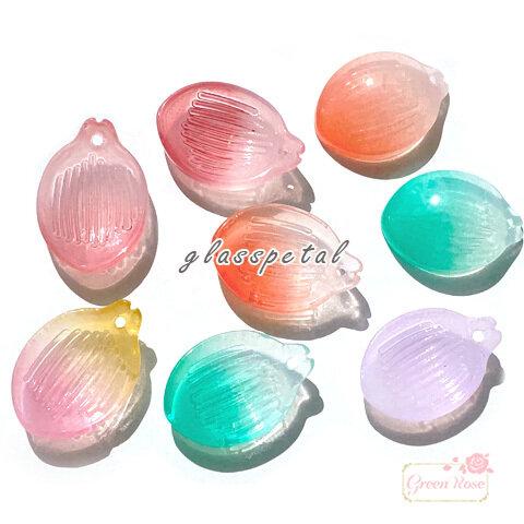 【ご希望のカラーをご選択ください】ガラス ビーズ チャーム 花びら ペタル 20個 beads978
