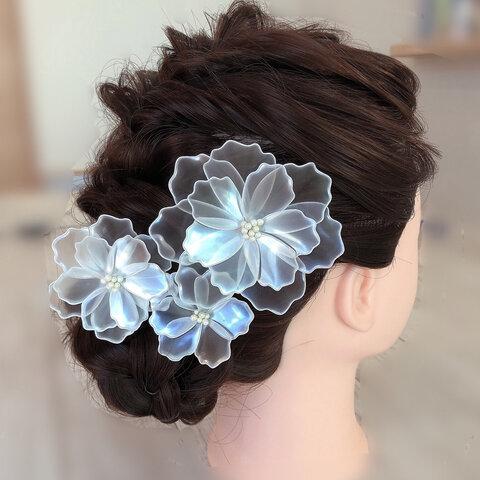 アメリカンフラワーのヘッドドレス(受注製作)