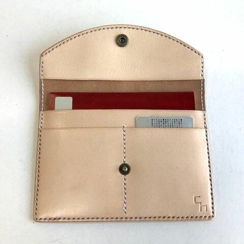 【選べるカラー・名入れ無料】革の通帳ケース/ch314(牛ヌメ革)