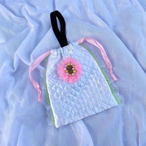 ワンワンgirly miniハンド巾着bag