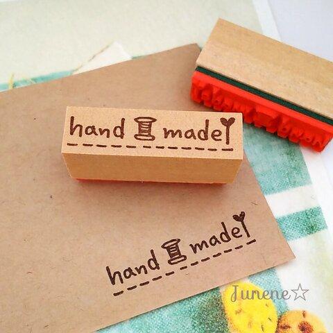 文字はんこ(handmade糸とハート針)