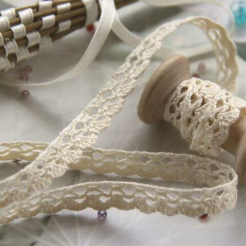7M巻*オーガニックコットンの優しいレース Organic cotton lace