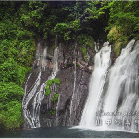 緑と白水の滝 LP0587