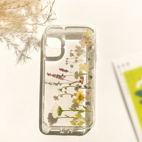 シンプル 押し花 フルーツ スマホケース Galaxy Xperia iphone iPhone11 /  iPhone11 Pro / iPhone8 iPhone7