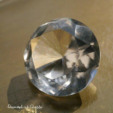 天然石約18.7gダイヤモンドカット水晶約31×19mm大きな超透明クリスタルクォーツ 鉱石アクサセリー鉱物テラリウム制作素材[bdc-211025-01]