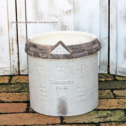 ガーデニング雑貨 鉢 グラスファイバー ロフュージュサークルM テラコッタ調ナチュラルおしゃれ