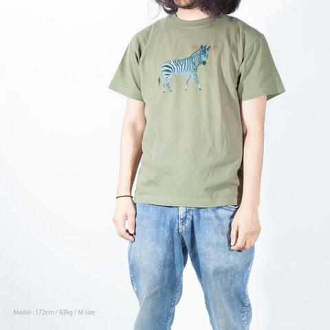 父の日のギフトに!しまうま Tシャツ ユニセックスS〜XXL Tcollector
