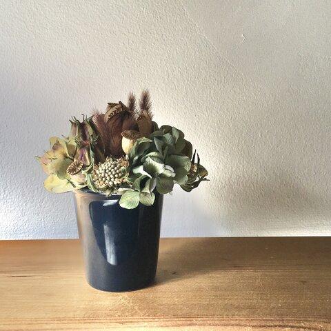 卓上  紫陽花アレンジメント