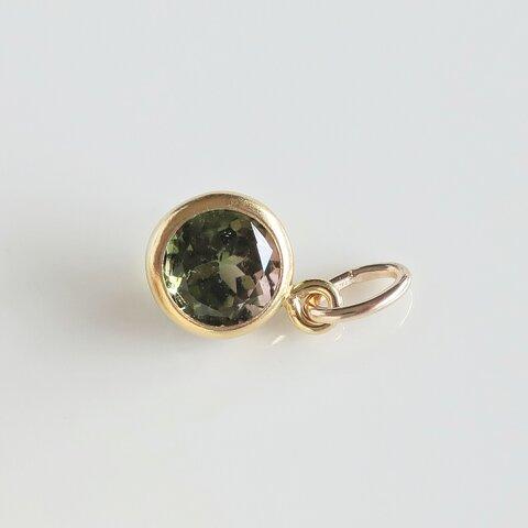 【限定1】5mmグリーントルマリン(e)◆14kgfネックレス,宝石質AAA【10月誕生石】