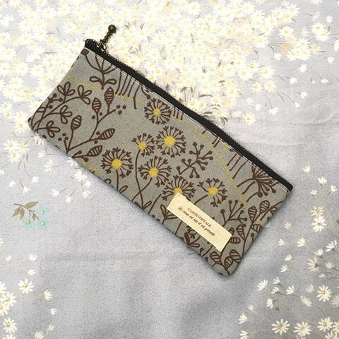 ペンケース 春の花柄 布製筆箱 PC04