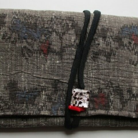 5882 麻の着物で作った和風財布・ポーチ #送料無料