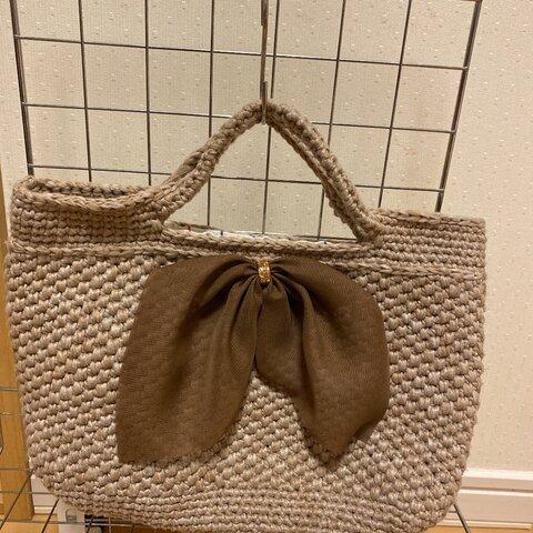 コットン手編みバッグ