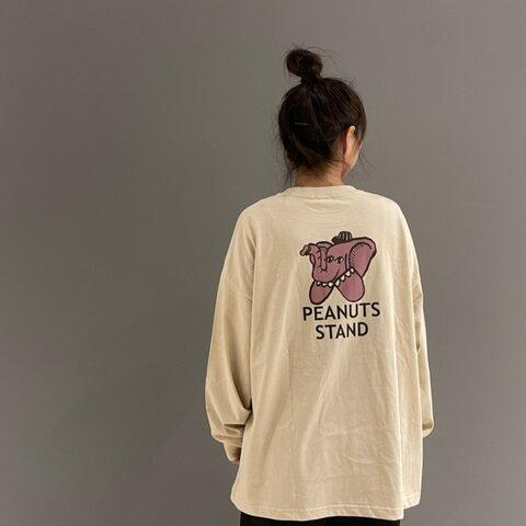 ビッグシルエットロングTシャツ/PEANUT STAND/S【送料無料】