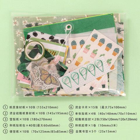 ins風 コラージュ素材紙製品セット♥植物 緑