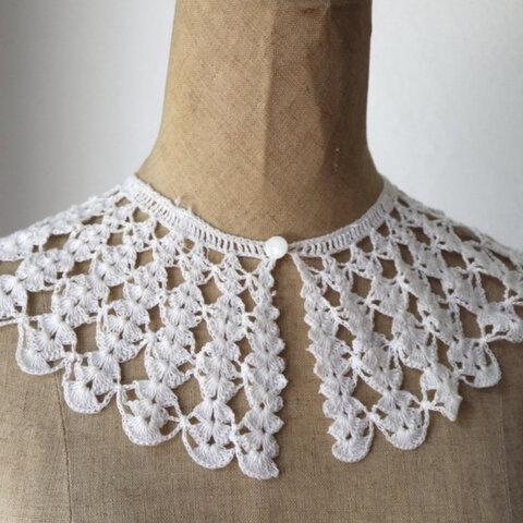 付け襟 鍵編み ビンテージ
